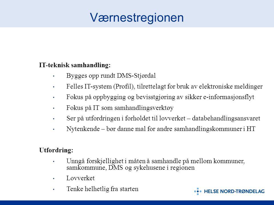 Værnestregionen IT-teknisk samhandling: Bygges opp rundt DMS-Stjørdal