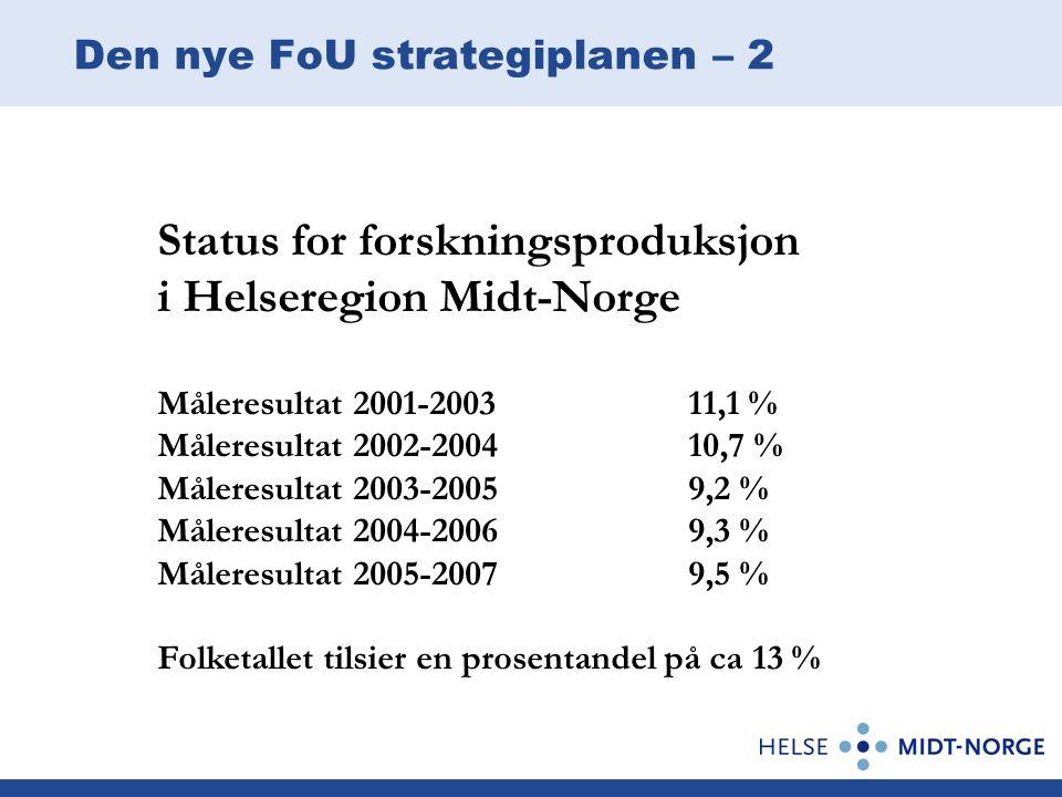 Den nye FoU strategiplanen – 2