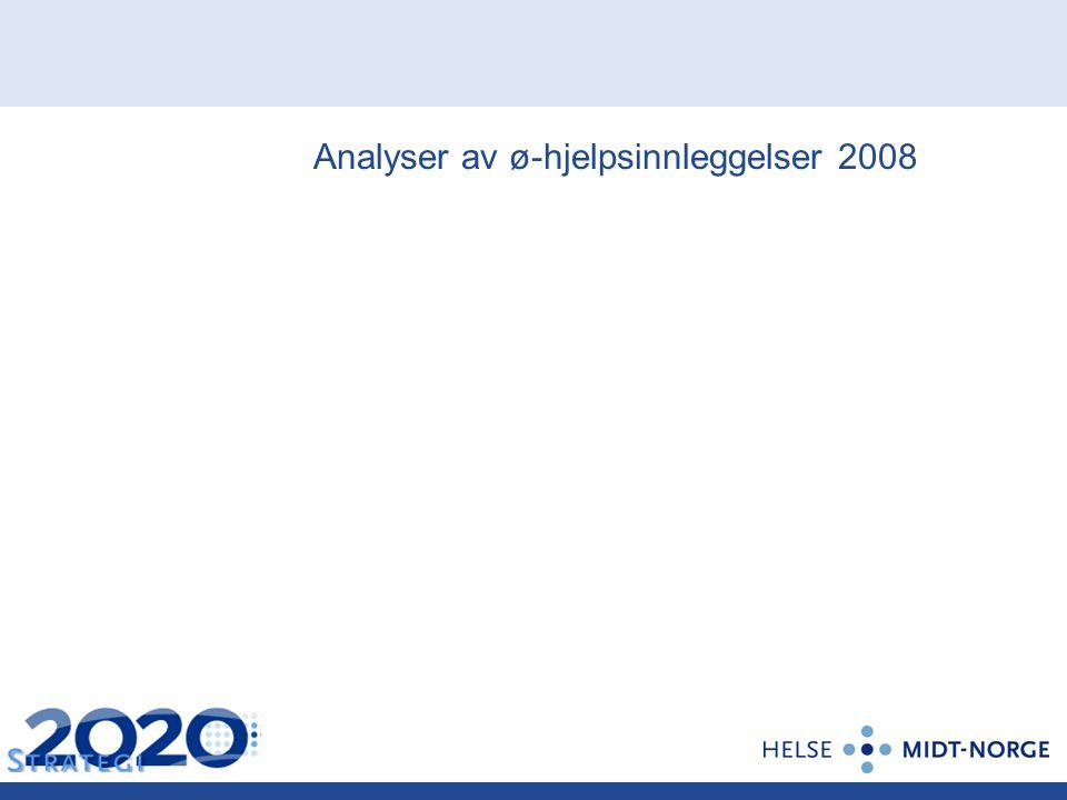 Analyser av ø-hjelpsinnleggelser 2008