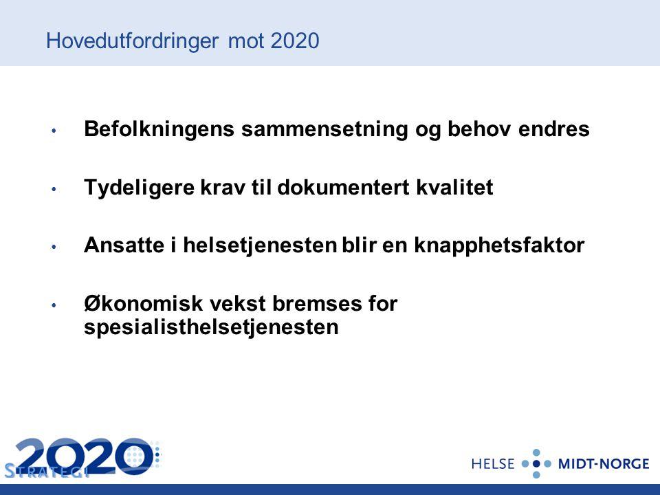 Hovedutfordringer mot 2020