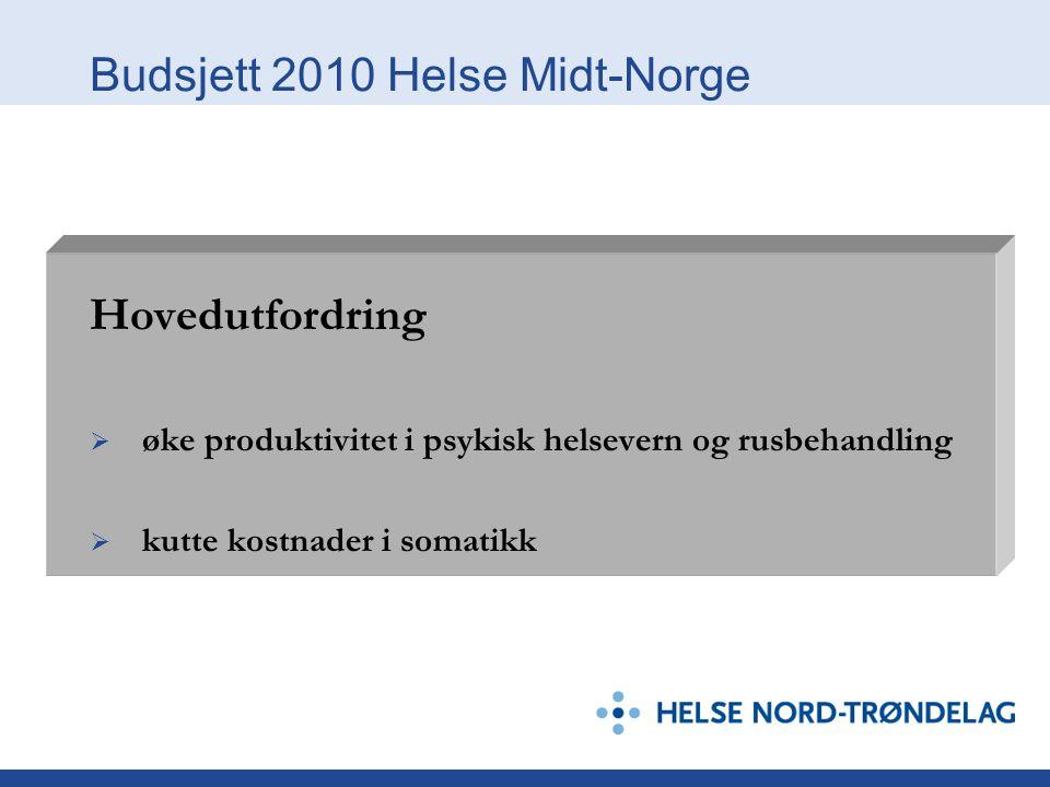 Budsjett 2010 Helse Midt-Norge