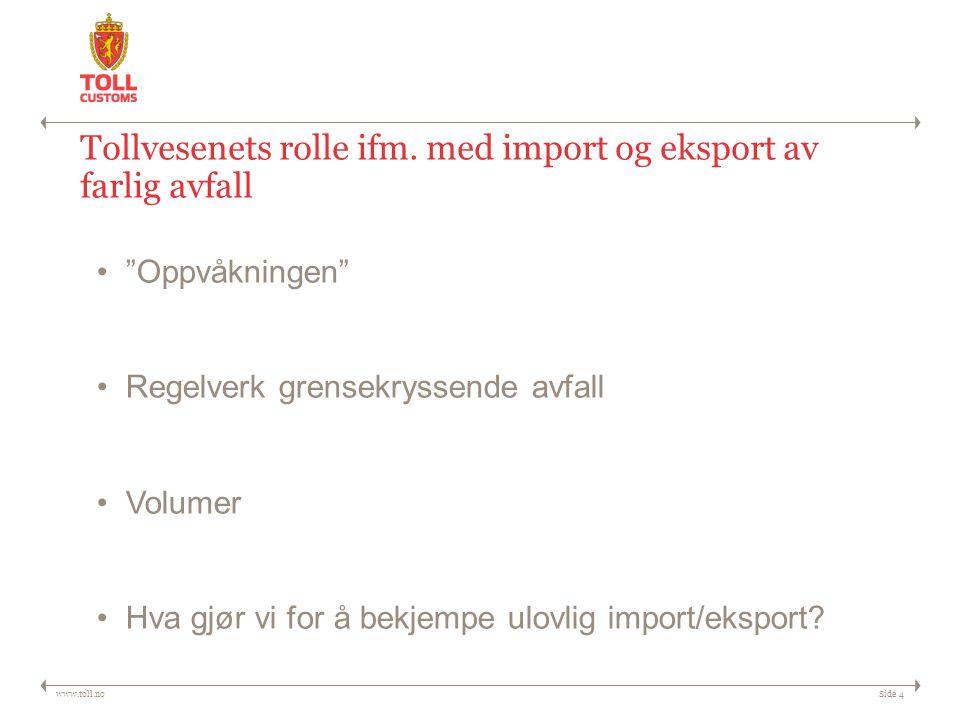 Tollvesenets rolle ifm. med import og eksport av farlig avfall
