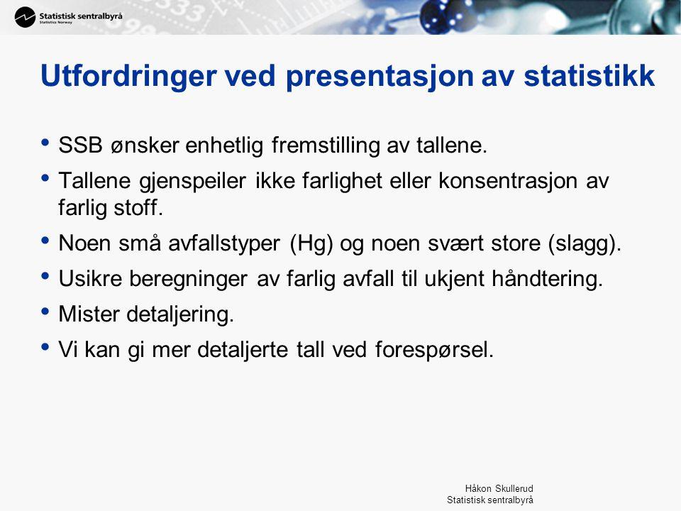 Utfordringer ved presentasjon av statistikk