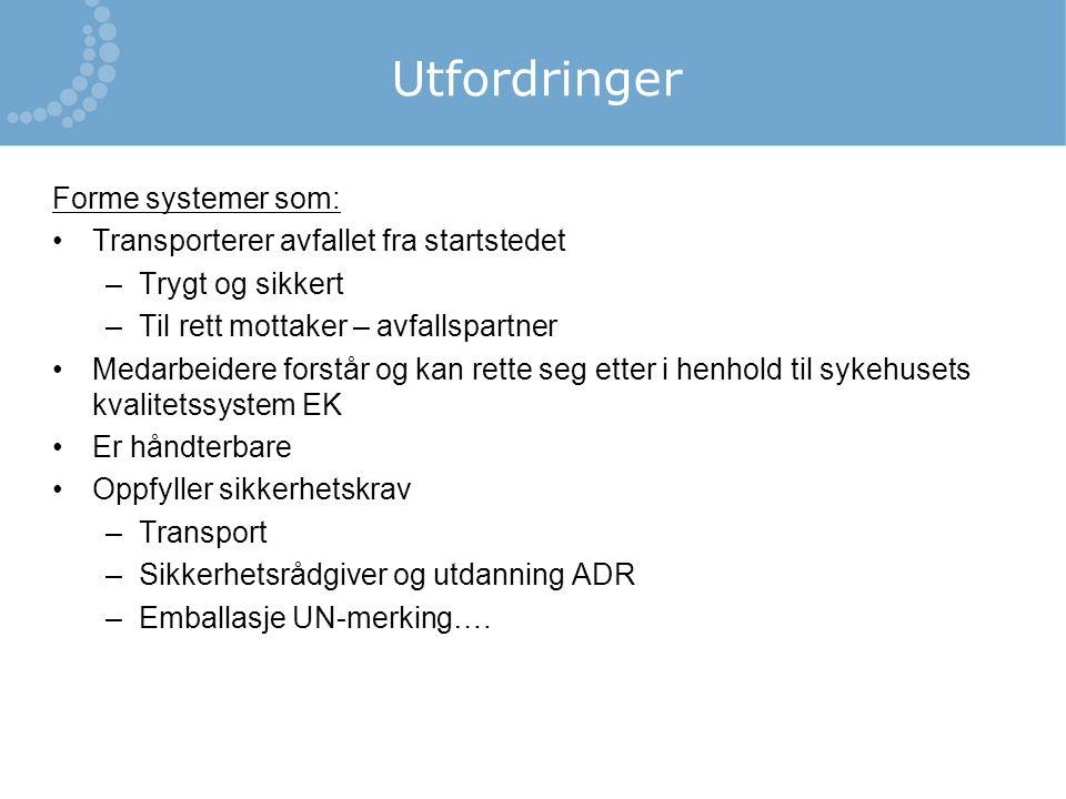 Utfordringer Forme systemer som: