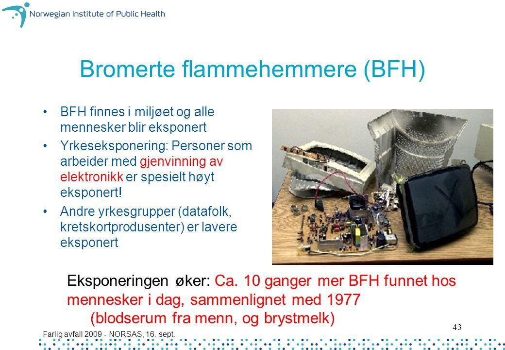 Bromerte flammehemmere (BFH)