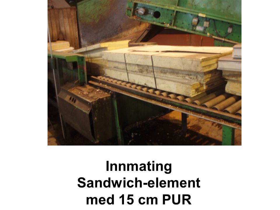 Innmating Sandwich-element med 15 cm PUR
