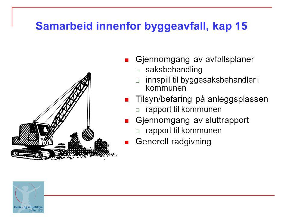 Samarbeid innenfor byggeavfall, kap 15