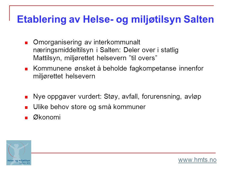 Etablering av Helse- og miljøtilsyn Salten