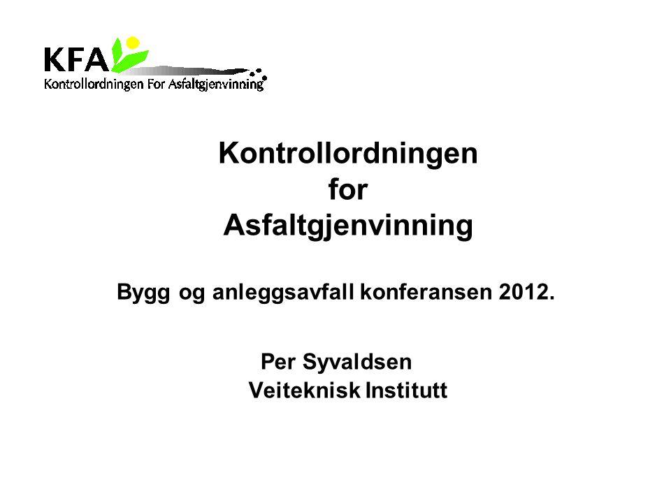 Bygg og anleggsavfall konferansen 2012.