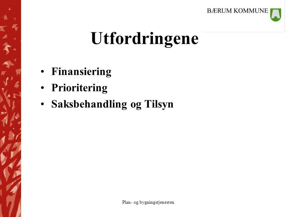 Utfordringene Finansiering Prioritering Saksbehandling og Tilsyn