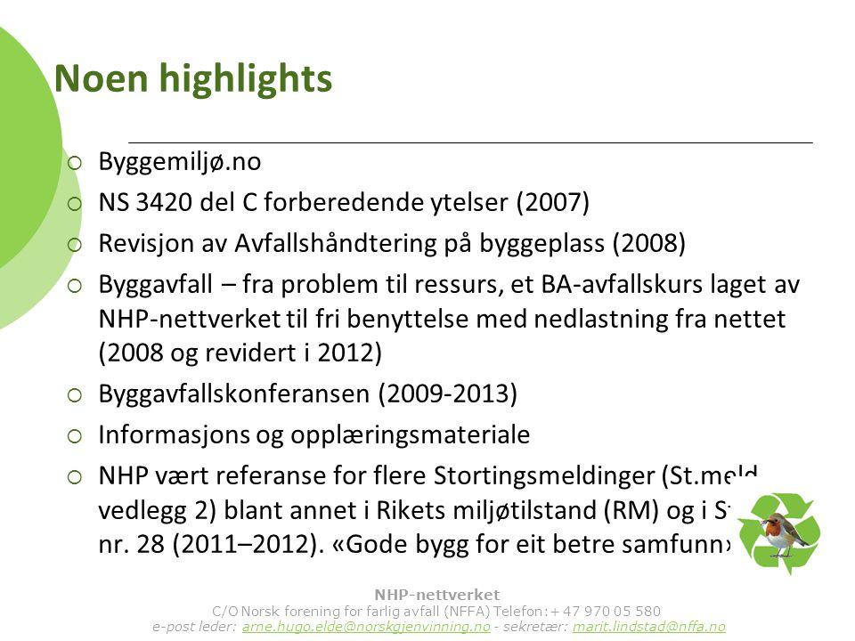 C/O Norsk forening for farlig avfall (NFFA) Telefon:+ 47 970 05 580