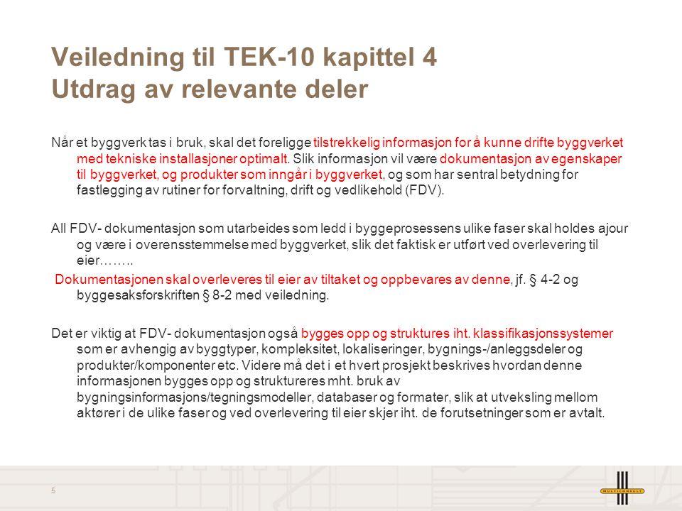 Veiledning til TEK-10 kapittel 4 Utdrag av relevante deler