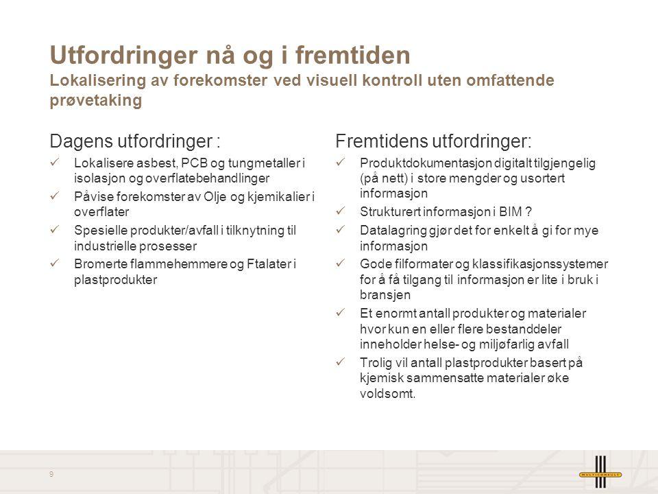 Utfordringer nå og i fremtiden Lokalisering av forekomster ved visuell kontroll uten omfattende prøvetaking