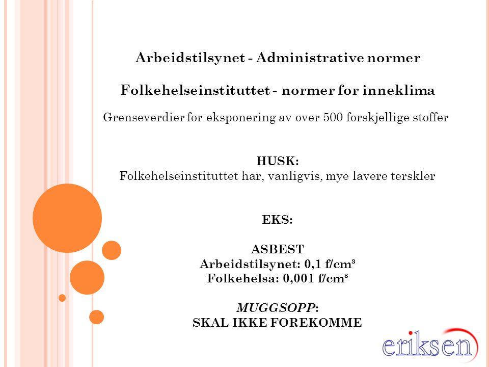 Arbeidstilsynet - Administrative normer