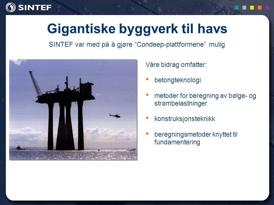 Gigantiske byggverk til havs