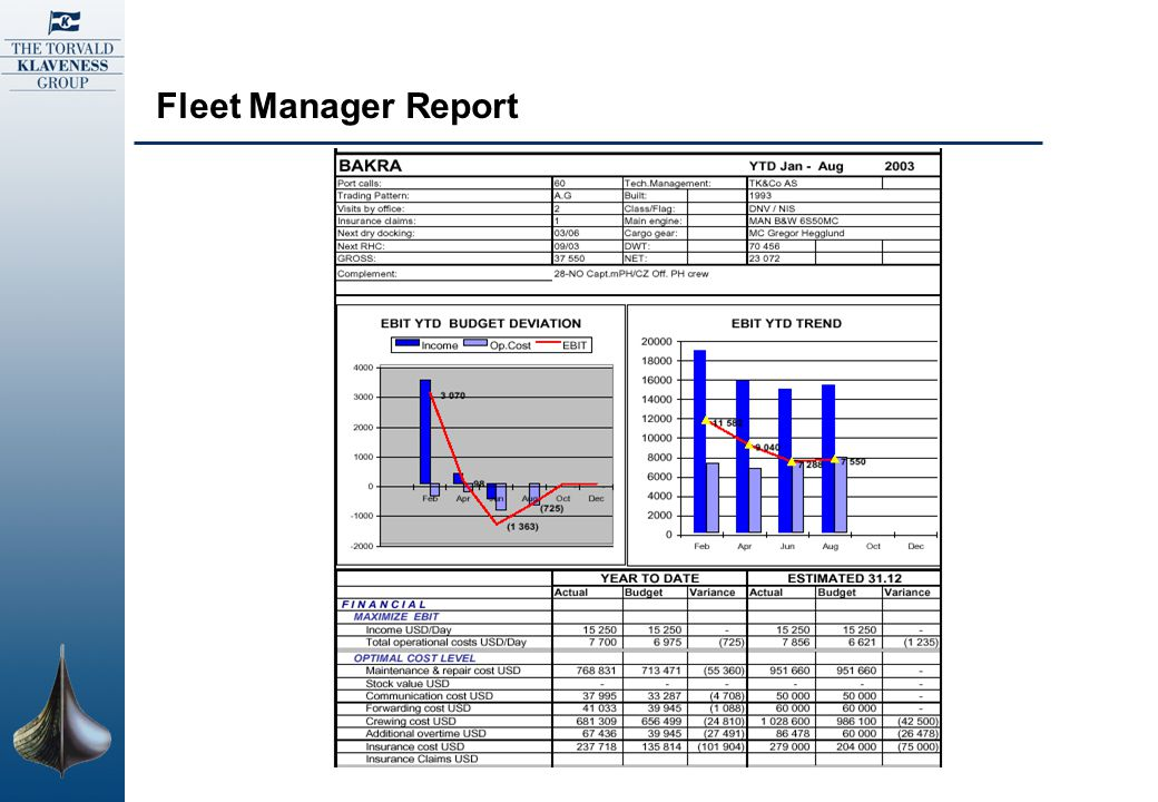Fleet Manager Report