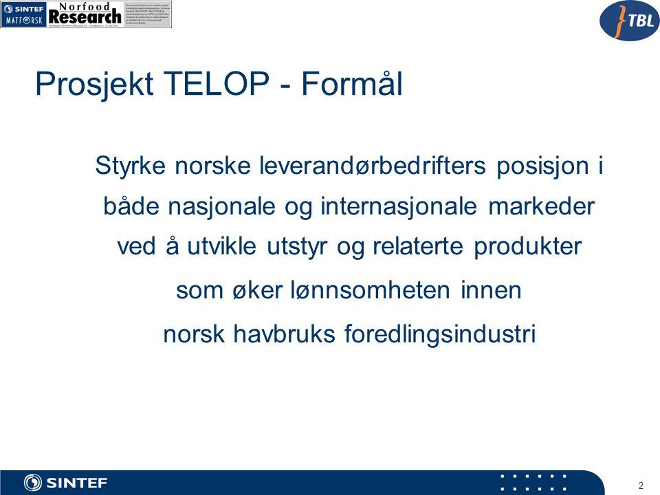 Prosjekt TELOP - Formål