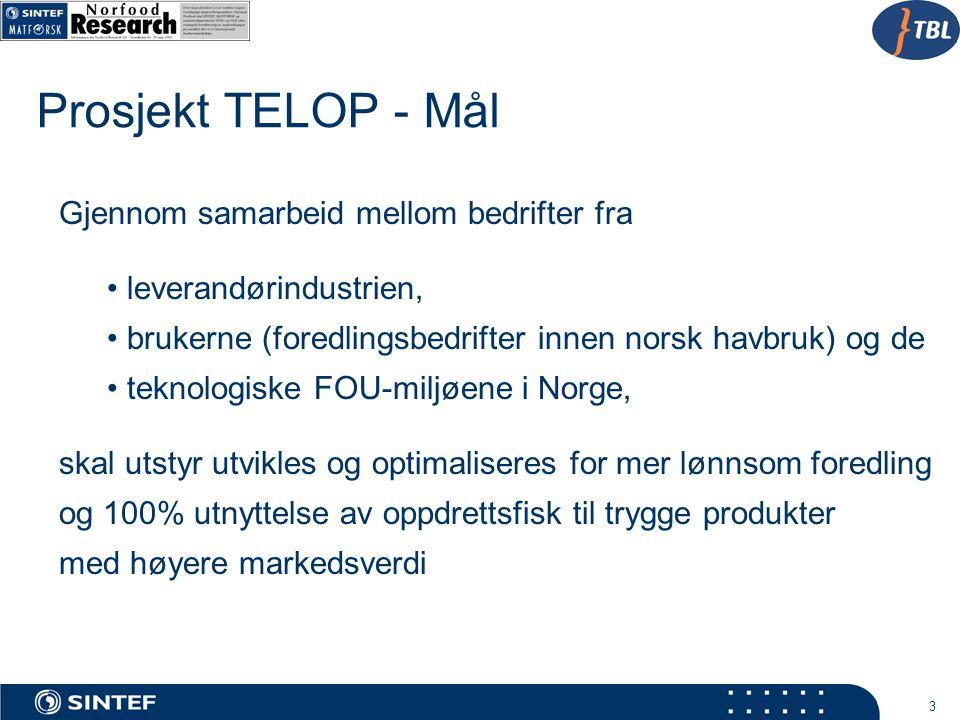 Prosjekt TELOP - Mål Gjennom samarbeid mellom bedrifter fra