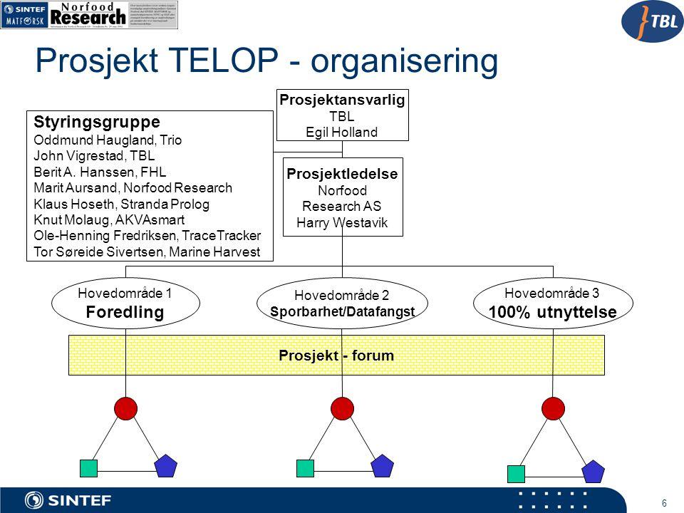 Prosjekt TELOP - organisering