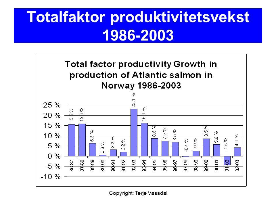 Totalfaktor produktivitetsvekst 1986-2003