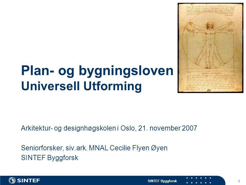 Plan- og bygningsloven Universell Utforming