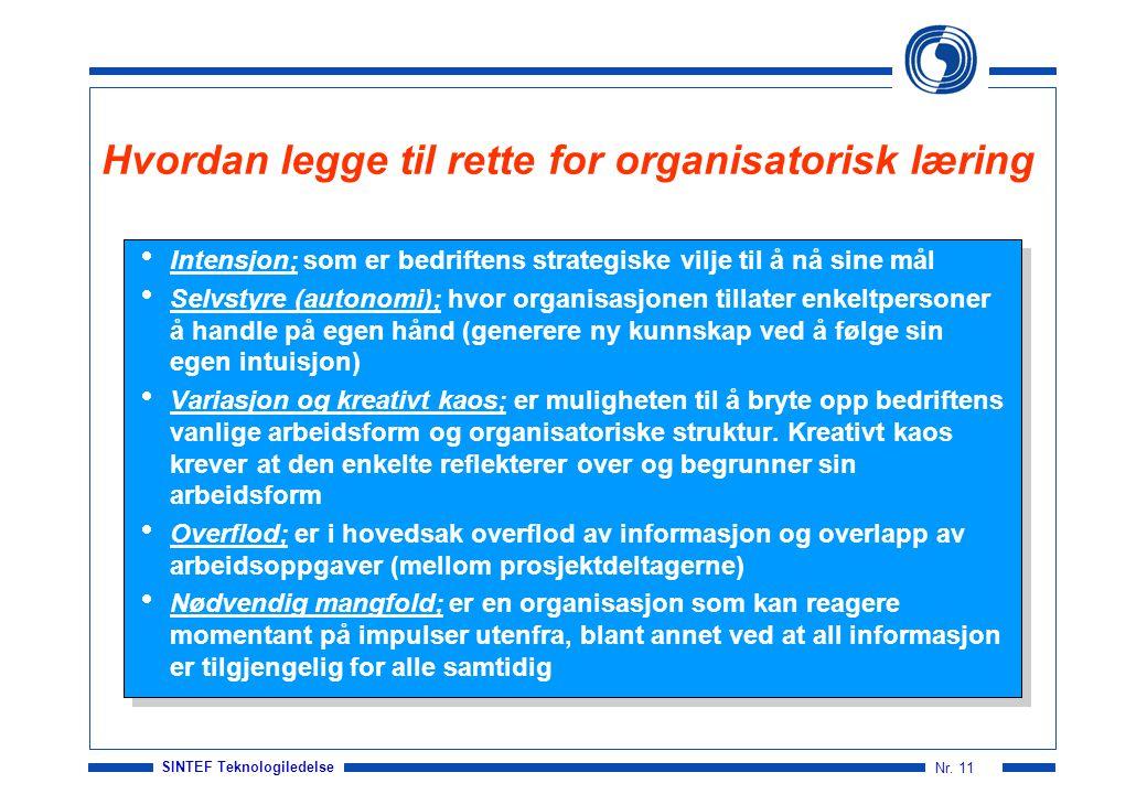 Hvordan legge til rette for organisatorisk læring