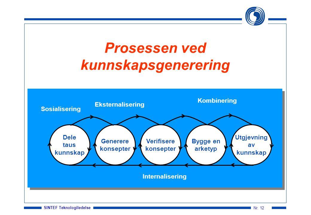 Prosessen ved kunnskapsgenerering