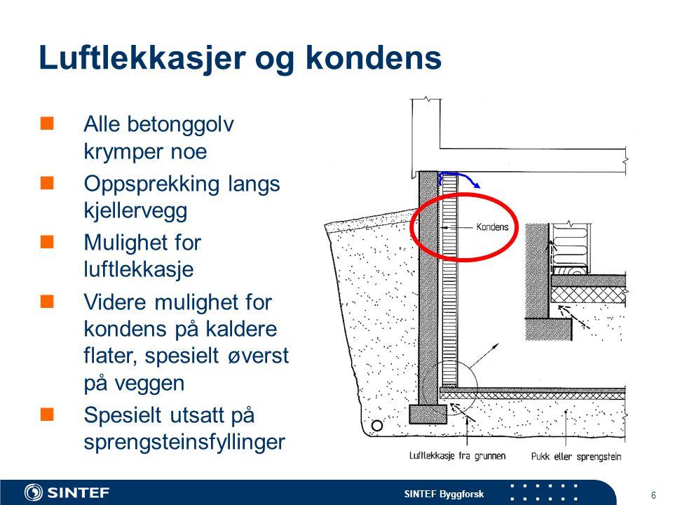 Luftlekkasjer og kondens