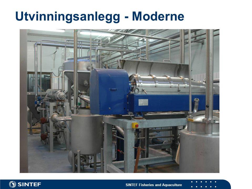 Utvinningsanlegg - Moderne