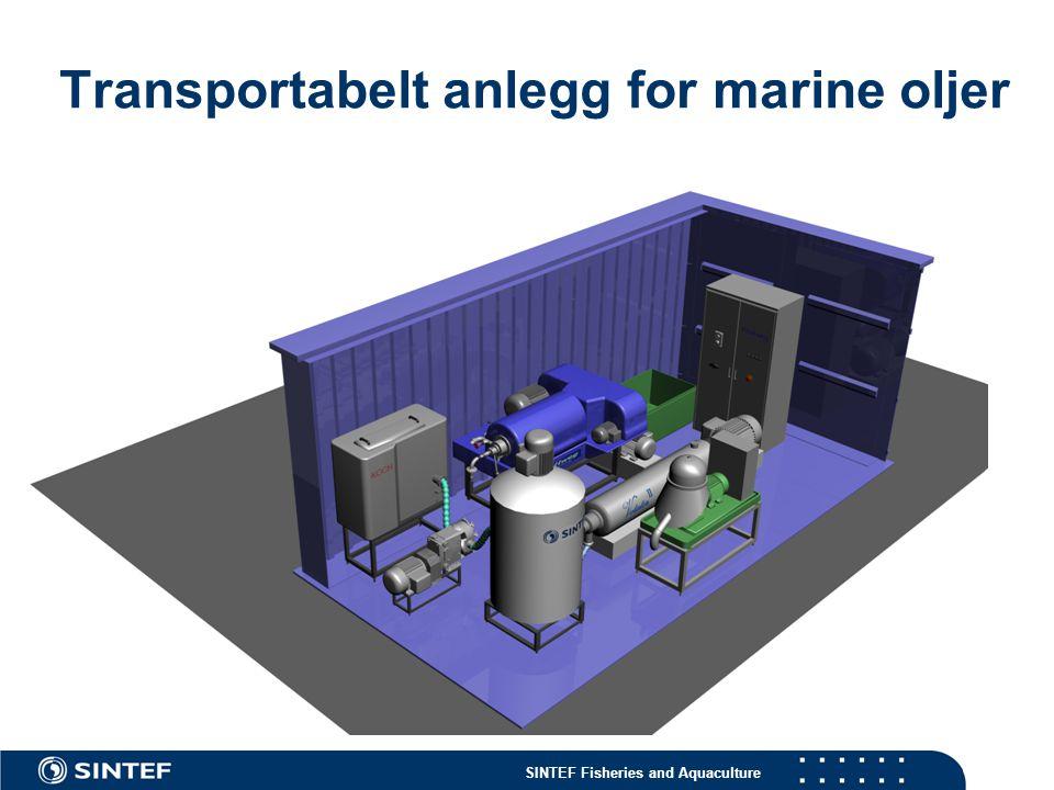 Transportabelt anlegg for marine oljer