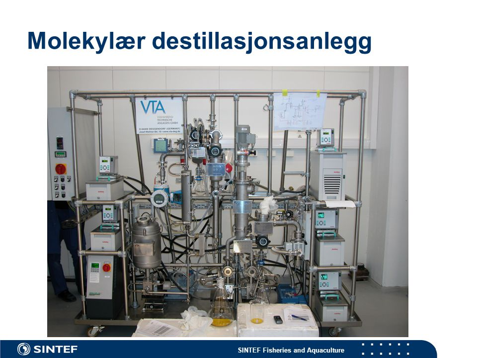 Molekylær destillasjonsanlegg