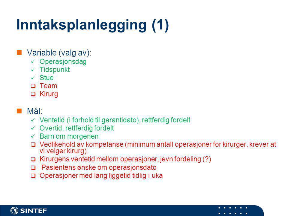 Inntaksplanlegging (1)