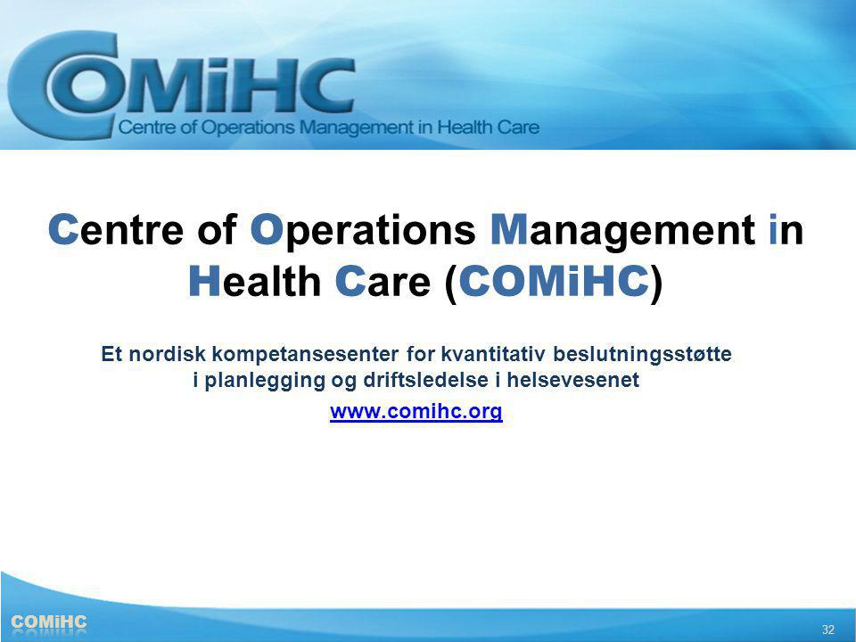 Centre of Operations Management in Health Care (COMiHC)