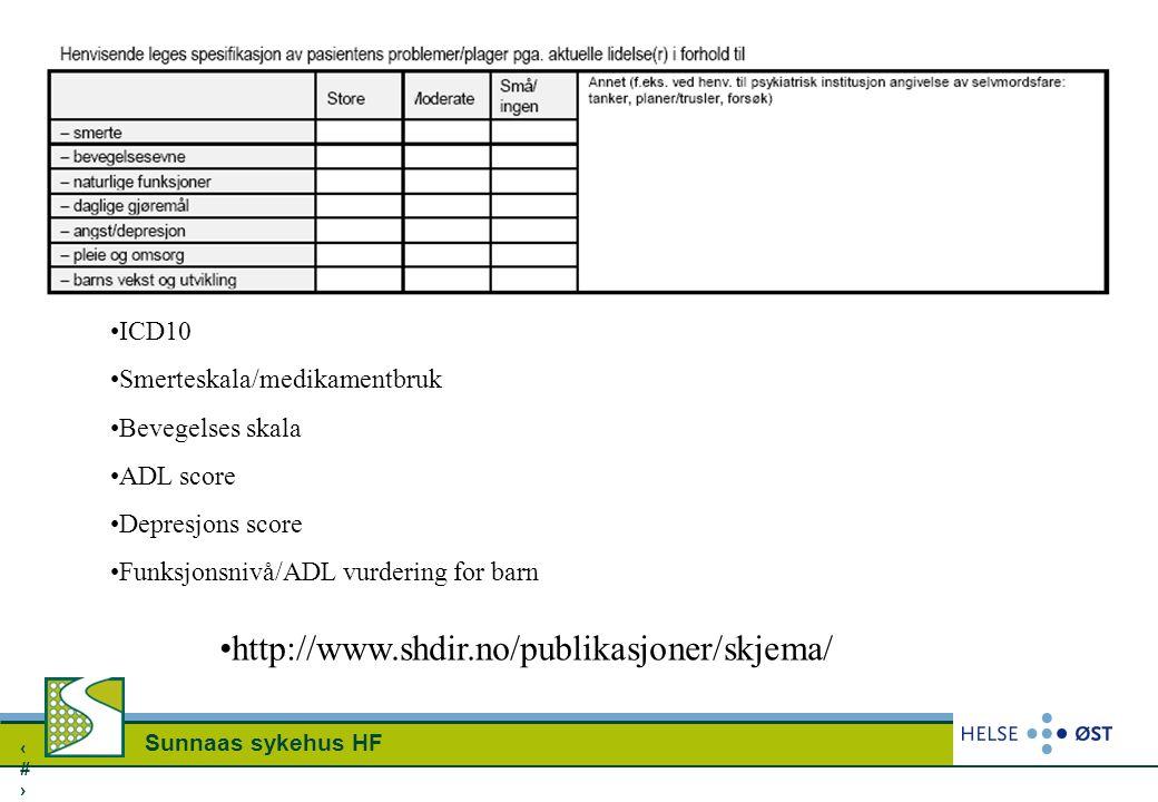 http://www.shdir.no/publikasjoner/skjema/ ICD10