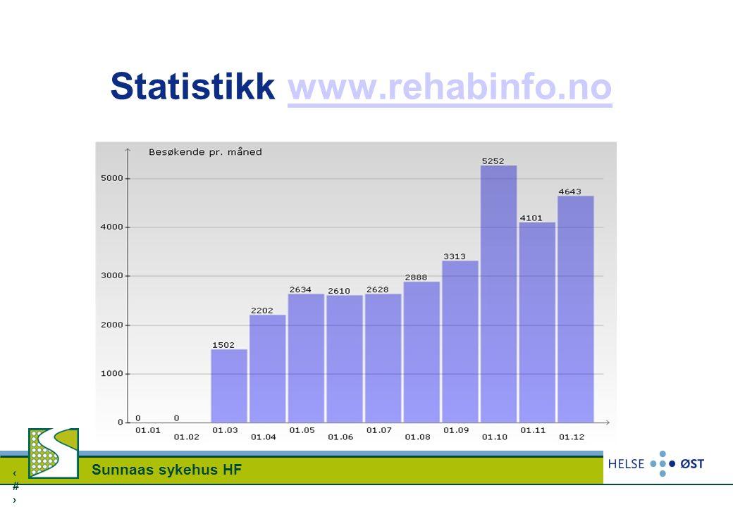 Statistikk www.rehabinfo.no