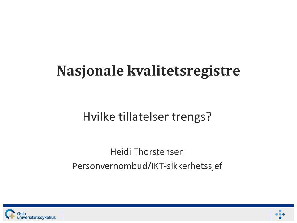 Nasjonale kvalitetsregistre