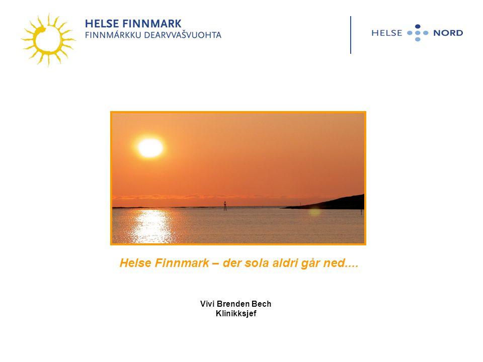 Helse Finnmark – der sola aldri går ned....
