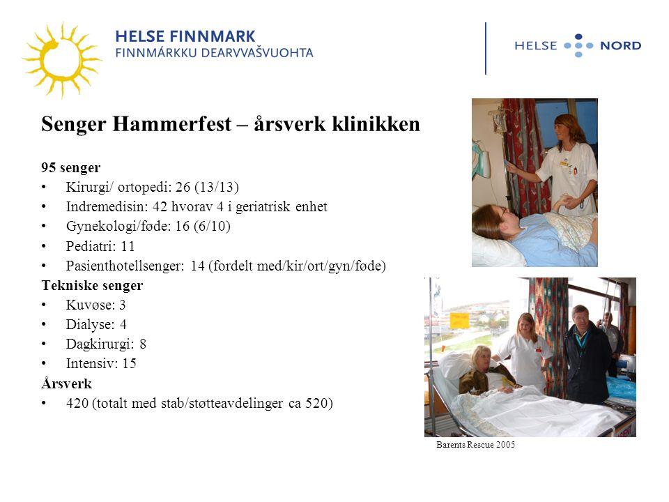 Senger Hammerfest – årsverk klinikken