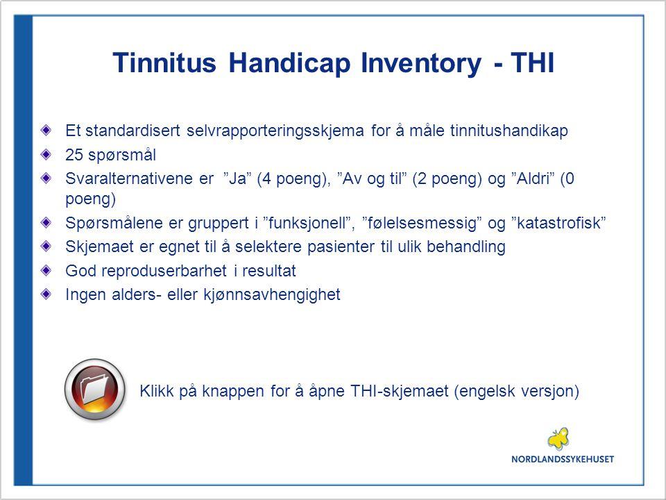Tinnitus Handicap Inventory - THI