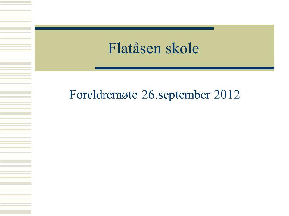 Foreldremøte 26.september 2012