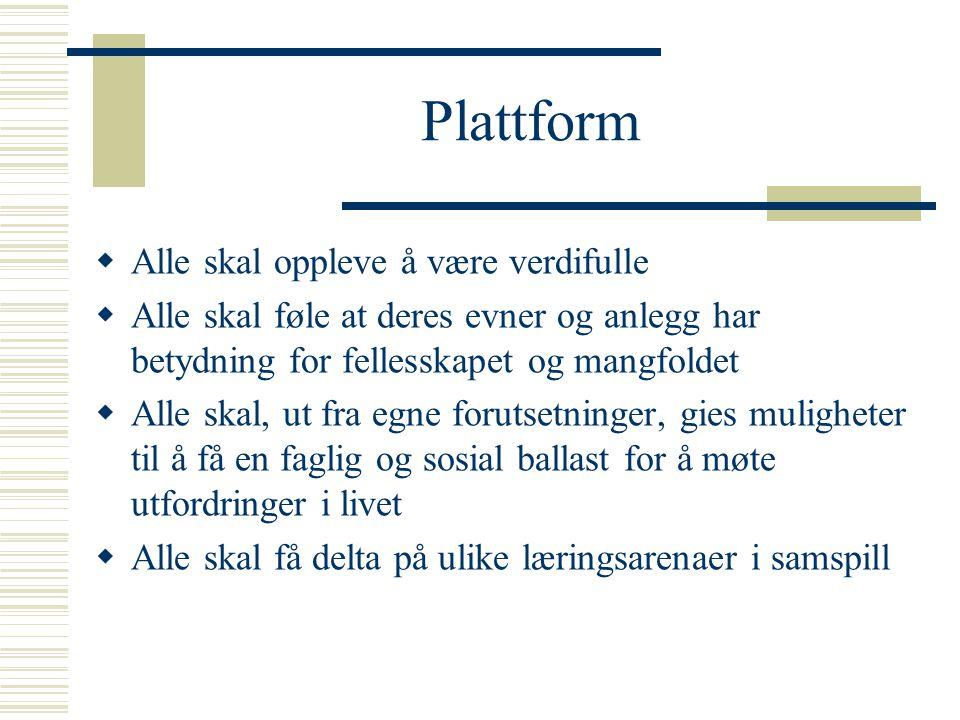 Plattform Alle skal oppleve å være verdifulle