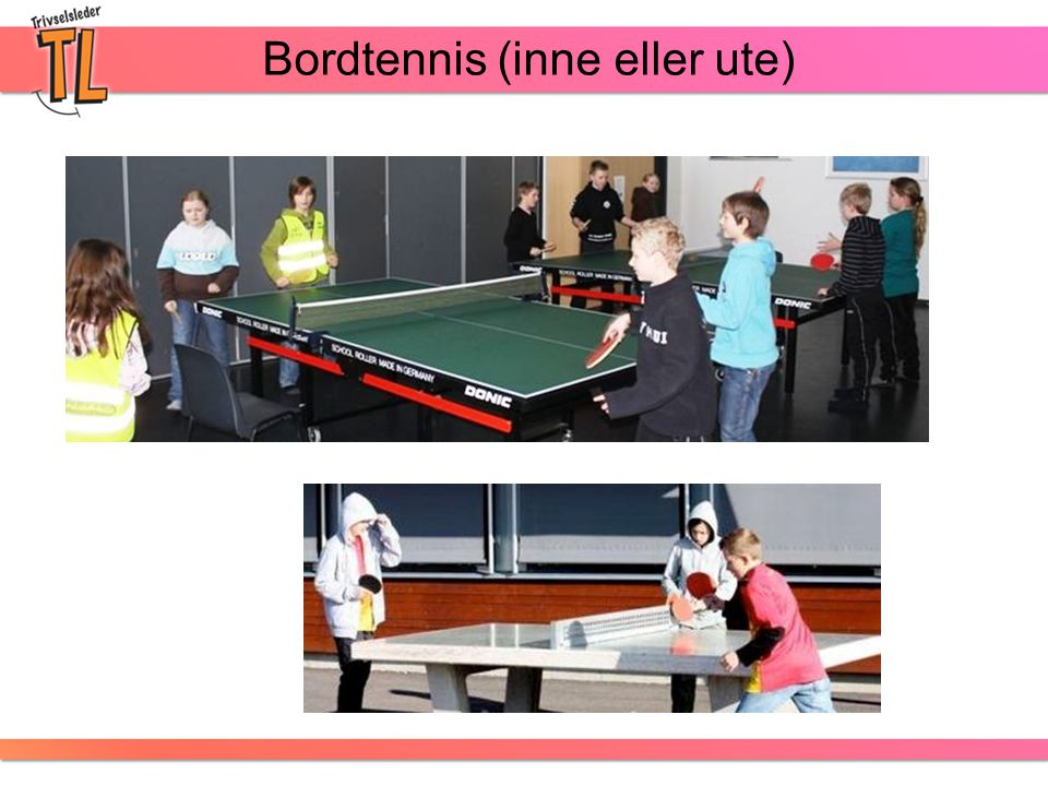 Bordtennis (inne eller ute)