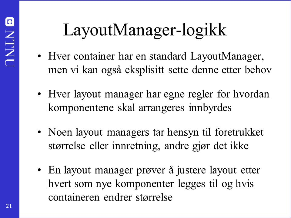 LayoutManager-logikk