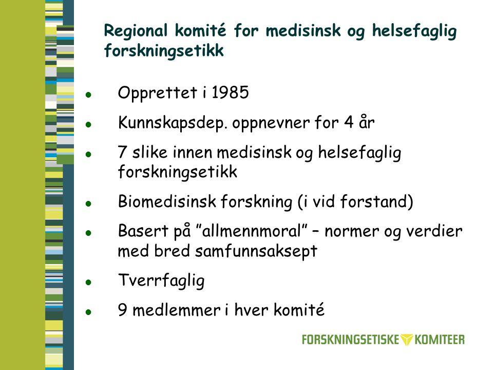 Regional komité for medisinsk og helsefaglig forskningsetikk