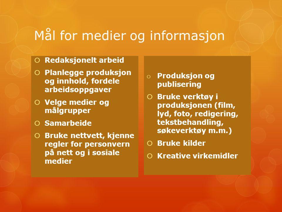 Mål for medier og informasjon