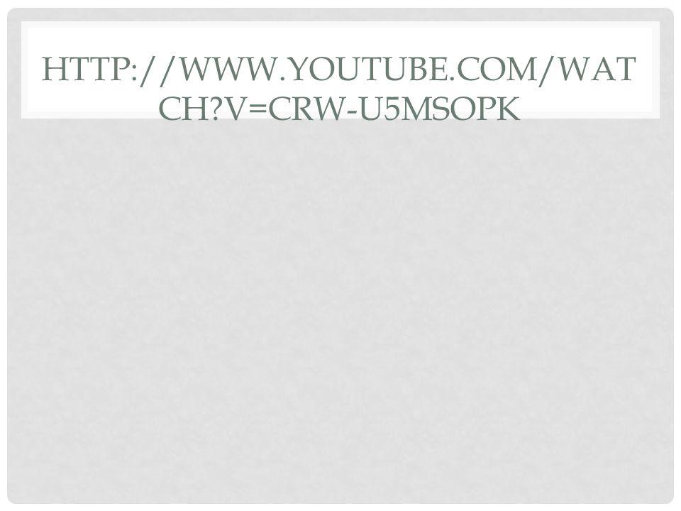 http://www.youtube.com/watch v=Crw-U5mSoPk