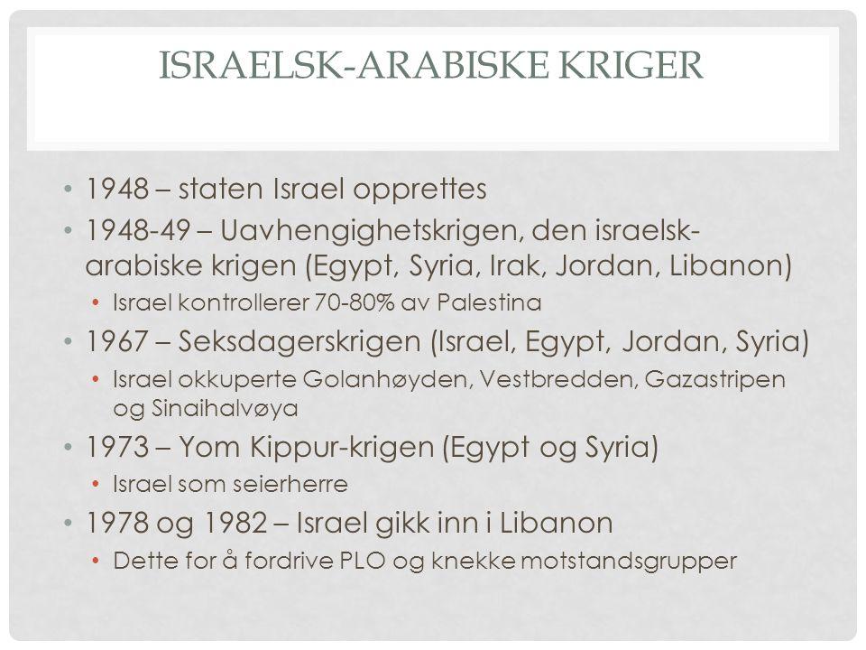 Israelsk-arabiske kriger