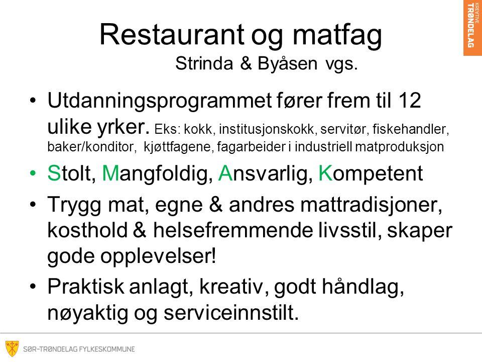 Restaurant og matfag Strinda & Byåsen vgs.