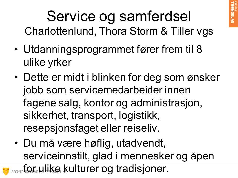Service og samferdsel Charlottenlund, Thora Storm & Tiller vgs