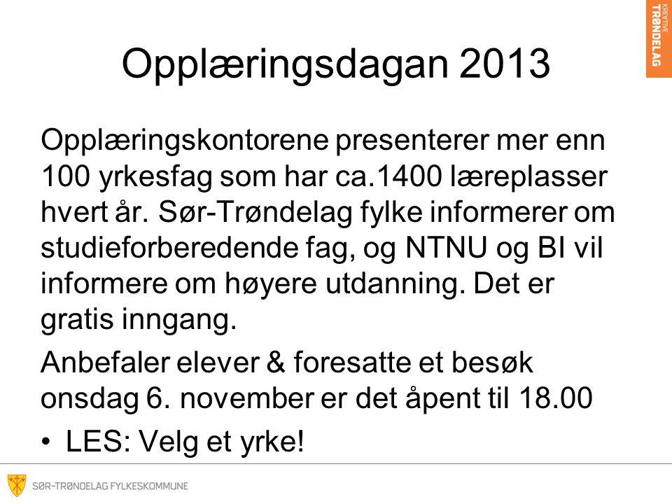 Opplæringsdagan 2013